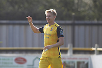 Alex Bentley celebrates after scoring during Witham Town vs AFC Hornchurch, Bostik League Division 1 North Football at Spa Road on 14th April 2018