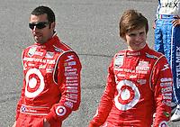 Dan  Wheldon,right, with Dario Franchitti,  Rolex 24 at Daytona International Speedway in Daytona Beach, FL  in January 2008. (Photo by Brian Cleary/ www.bcpix.com )
