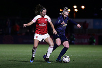 Katie McCabe of Arsenal and Leah Galton of Manchester Utd during Arsenal Women vs Manchester United Women, FA WSL Continental Tyres Cup Football at Meadow Park on 7th February 2019