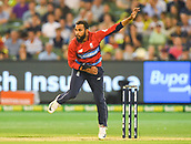 10th February 2018, Melbourne Cricket Ground, Melbourne, Australia; International Twenty20 Cricket, Australia versus England;  Adil Rashid of England bowls