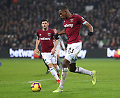 4th February 2019, London Stadium, London, England; EPL Premier League football, West Ham United versus Liverpool; Issa Diop of West Ham United in action