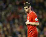 Jon Flanagan of Liverpool spitting - English Premier League - Liverpool vs Manchester City - Anfield Stadium - Liverpool - England - 3rd March 2016 - Picture Simon Bellis/Sportimage