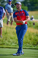 Jon Rahm (ESP) watches his tee shot on 12 during Thursday's round 1 of the 117th U.S. Open, at Erin Hills, Erin, Wisconsin. 6/15/2017.<br /> Picture: Golffile | Ken Murray<br /> <br /> <br /> All photo usage must carry mandatory copyright credit (&copy; Golffile | Ken Murray)