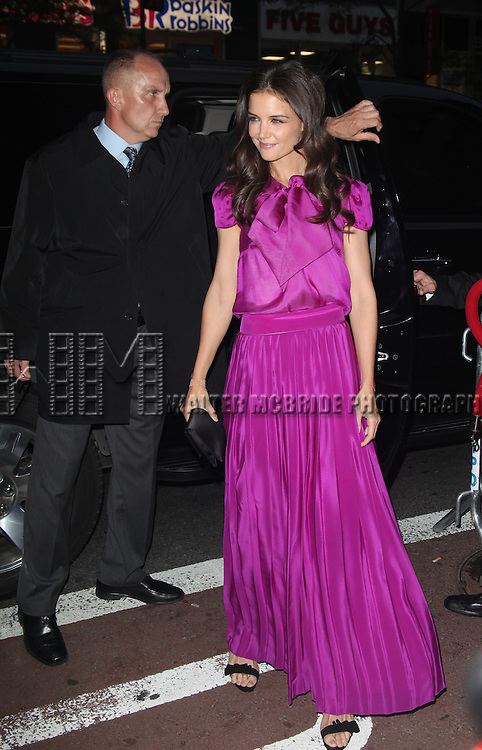 Katie Holmes.attending the 56th Annual Drama Desk Awards Arrivals at Hammerstein Ballroom in New York City.