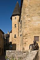 Europe/France/Aquitaine/24/Dordogne/Vallée de la Dordogne/Périgord Noir/Sarlat-la-Canéda: Sculpture  tour de l'hôtel de Gisson