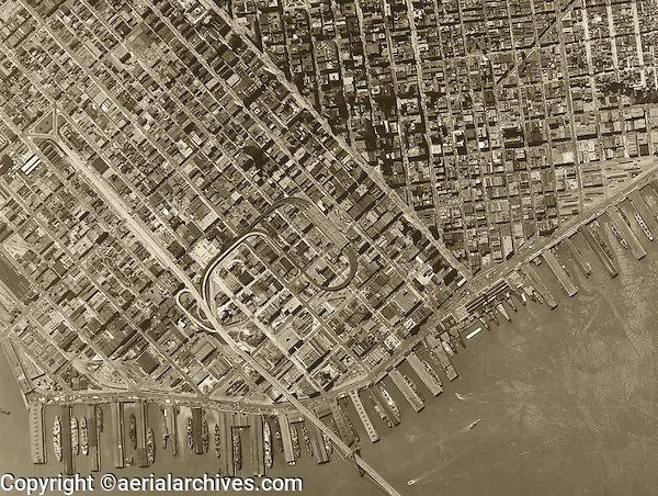 historical aerial photograph San Francisco, California 1946