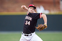 Davidson Wildcats relief pitcher Durin O'Linger (34) in action against the Wake Forest Demon Deacons at Wilson Field on March 19, 2014 in Davidson, North Carolina.  The Wildcats defeated the Demon Deacons 7-6.  (Brian Westerholt/Four Seam Images)