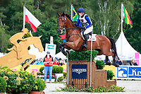 AUS-Emma McNab rides Fernhill Tabasco during the Cross Country for the CIC3* Meßmer Trophy - German Eventing Championship, at the 2017 Luhmühlen International Horse Trial. Saturday 17 June. Copyright Photo: Libby Law Photography