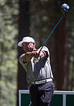 Ozzie Smith hits a tee shot during the ACC Golf Tournament at Edgewood Tahoe Golf Course in South Lake Tahoe on Sunday, July 14, 2019.