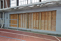 Renovations and Restoration of Coxe Cage, Yale University Athlectics Facility. Project Started May 2013. Construction Progress Photography Submission Six, 2 August 2013. One of 40 Images this Session.