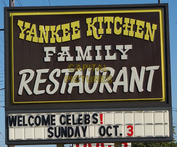 YANKEE KITCHEN SIGN.Yankee Kitchen Sign during 'Bring Ohio Back' Voter Registration held at Yankee Kitchen. .October 3rd, 2004.www.capitalpictures.com.sales@capitalpictures.com.©George Shepherd/AdMedia/Capital Pictures.