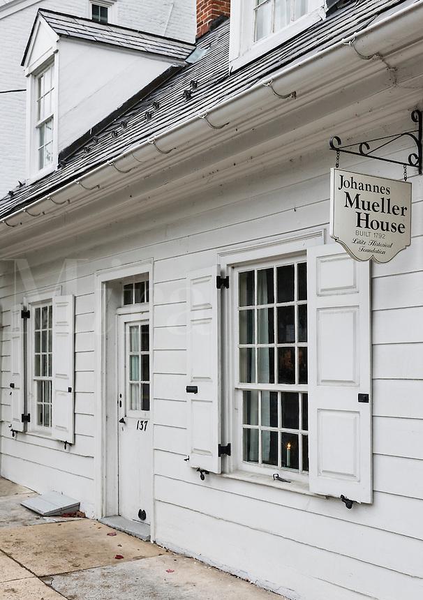 Johannes Mueller House, Lititz, Pennsylvania, USA