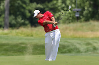 Bethesda, MD - July 1, 2017:  Patrick Reed in action during Round 3 of professional play at the Quicken Loans National Tournament at TPC Potomac in Bethesda, MD, July 1, 2017.  (Photo by Elliott Brown/Media Images International)