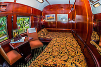 """Sleeper coach aboard the """"Pride of Africa"""" train departing for Cape Town at the Rovos Rail Station, Capital Park, Pretoria (Tshwane), South Africa."""