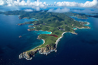 Aerial view of St. John showing the southeast<br />