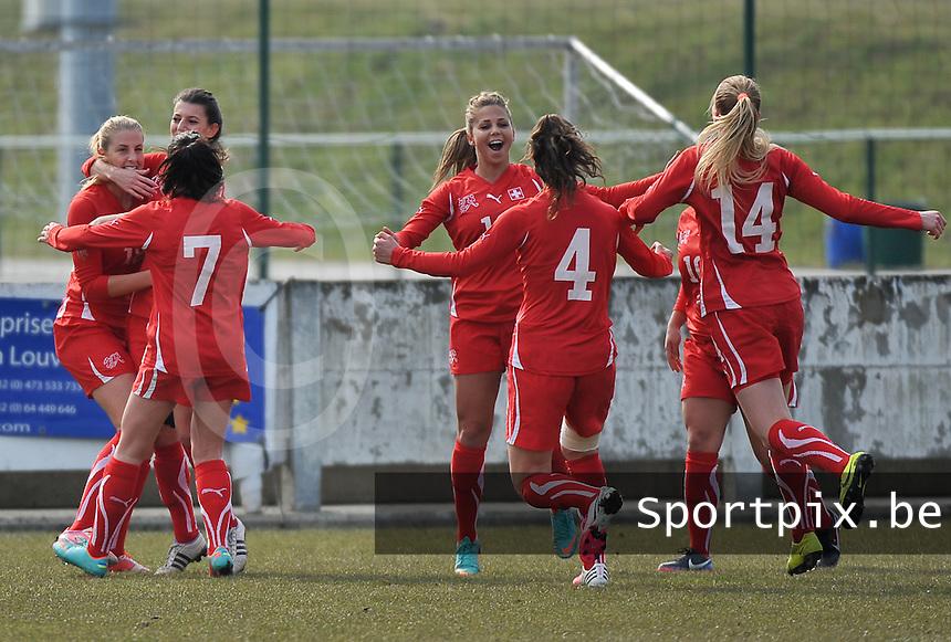 Switzerland U19 - Russia U19 : Switzerland celebrates.foto DAVID CATRY / Nikonpro.be