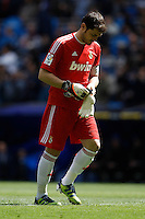29.04.2012 SPAIN -  La Liga matchday 36th  match played between Real Madrid CF vs Sevilla Futbol Club (3-0) at Santiago Bernabeu stadium. The picture show Iker Casillas (spanish goalkeeper of Real Madrid)
