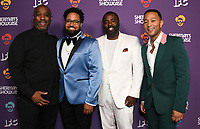 "30 July 2019 - West Hollywood, California - Mike Jackson, Diallo Riddle, Bashir Salahuddin, John Legend. IFC's ""Sherman's Showcase"" Premiere Party held at The Peppermint Club. Photo Credit: Birdie Thompson/AdMedia"