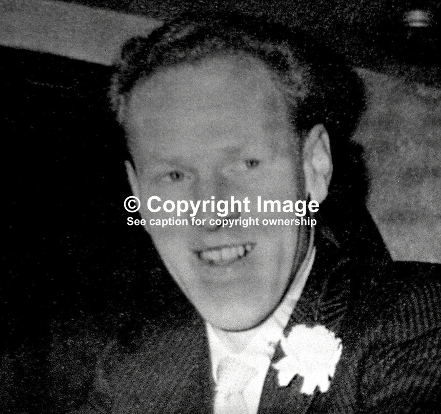 Myles O'Reilly, one of two brothers, who were killed in a gun & bomb attack on their pub restaurant premises, the Golden Pheasant, Lisburn, N Ireland. 197603090136b..Copyright Image from Victor Patterson, 54 Dorchester Park, Belfast, UK, BT9 6RJ..Tel: +44 28 9066 1296.Mob: +44 7802 353836.Voicemail +44 20 8816 7153.Skype: victorpattersonbelfast.Email: victorpatterson@me.com.Email: victorpatterson@ireland.com (back-up)..IMPORTANT: If you wish to use this image or any other of my images please go to www.victorpatterson.com and click on the Terms & Conditions. Then contact me by email or phone with the reference number(s) of the image(s) concerned.