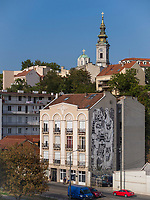 St. Michael, Blick von Brankova Br&uuml;cke, Belgrad, Serbien, Europa<br /> St. Michael, view from Brankova Bridge, Belgrade, Serbia, Europe