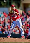 29 February 2020: St. Louis Cardinals pitcher Giovanny Gallegos on the mound during a Spring Training game against the Washington Nationals at Roger Dean Stadium in Jupiter, Florida. The Cardinals defeated the Nationals 6-3 in Grapefruit League play. Mandatory Credit: Ed Wolfstein Photo *** RAW (NEF) Image File Available ***