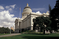 AJ3755, Sacramento, State Capitol, State House, California, State Capitol Building in the capital city of Sacramento in the state of California.