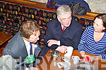 LABOUR: The Labour party leader Eamon Gilmore with north Kerry candidate Arthur Spring taking to Brenda Kerins, Tralee at Der O'Sullivan delicatessen, Tralee on Friday.