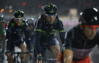 PICTURE BY MARK GREEN/SWPIX.COM ATP  Tour of Abu Dhabi - Yas Island Stage, UAE, 26/02/17<br /> Torrential rain in the Yas Marina stage of the 2017 Tour of Abu Dhabi