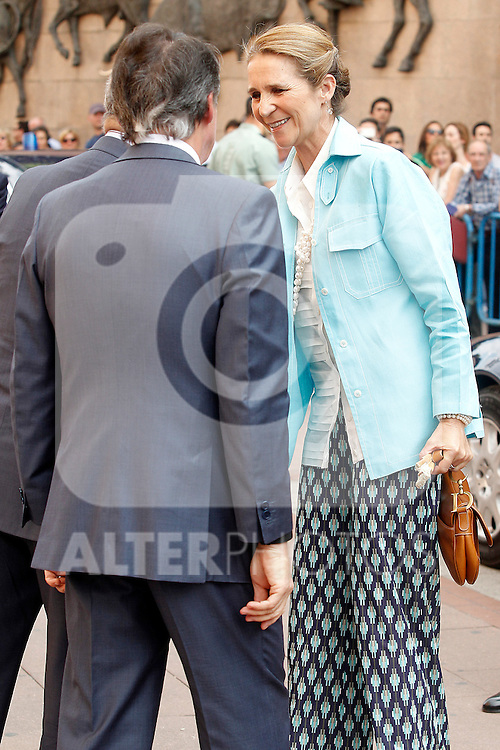 The Infanta Elena chaired the bullfight of beneficence. June 3 ,2012. (ALTERPHOTOS/Acero)