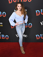11 March 2019 - Hollywood, California - Sofie Dossi. &quot;Dumbo&quot; Los Angeles Premiere held at Ray Dolby Ballroom. Photo <br /> CAP/ADM/BT<br /> &copy;BT/ADM/Capital Pictures
