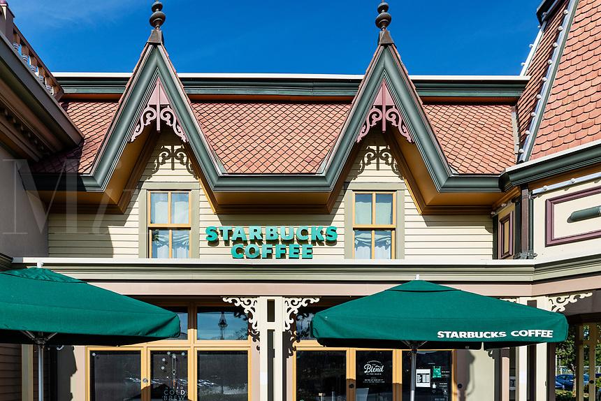 Starbucks location, Hyannis, Cape Cod, Massachusetts, USA.