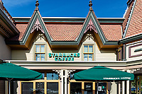 Starbucks location, Hyannis, Cape Cod, Massachusetts, USA.