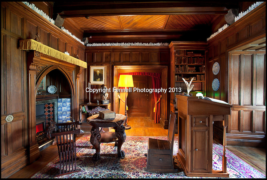 BNPS.co.uk (01202) 558833<br /> Picture: FennellPhotography/BNPS<br /> <br /> ****Please use full byline****<br /> <br /> Yours for £5.5 million - A Downton Abbey of your own...<br /> <br /> Butlers station in the reception hall.<br /> <br /> Lover's of the hit tv series now have the chance to buy into the lifestyle of the Grantham's, after this very similar looking property has come on the market in the heart of Ireland.<br /> <br /> Stunning Tulira Castle, Co Galway, dates back to the medieval times has emerged for sale for £5.5 million.<br /> <br /> The enormous castle sits in 250 acres of rolling countryside in the village of Ardrahan in County Galway, Ireland and is so idyllic it has been home to the same family for the last two decades.<br /> <br /> It is currently owned by Ruud and Femmy Bolmeijer who are looking to downsize.