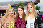 Emma Grimes, Siobhan Diggins and Olivia Culloty from Lixnaw and Listowel at the Kerry GAA Night at Dogs Race of Champions at the Kingdom Greyhound Stadium on Friday