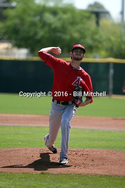 Austin Robichaux - Los Angeles Angels 2016 spring training (Bill Mitchell)
