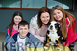 The Barrett family from Beaufort with their dog Bruno at the Leagly Blonde dog auditions in the INEC on Saturday l-r: Sinead, Sue, Alfie and Holly,