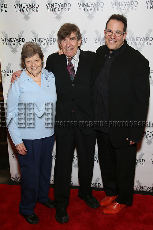 Michael Mayer with his dad and cousin attends the Vineyard Theatre Gala 2018 honoring Michael Mayer at the Edison Ballroom on May 14, 2018 in New York City.