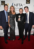 LOS ANGELES, CA - DECEMBER 5: Shawn King, Larry King, Andy King, Larry King Jr., at The National Film and Television Awards at The Globe Theater in Los Angeles, California on December 5, 2018. <br /> CAP/MPI/FS<br /> &copy;FS/MPI/Capital Pictures
