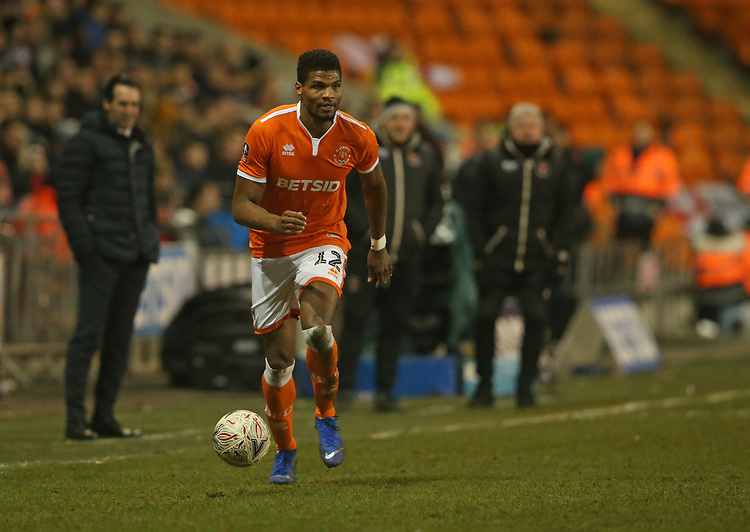 Blackpool's Michael Nottingham<br /> <br /> Photographer Stephen White/CameraSport<br /> <br /> Emirates FA Cup Third Round - Blackpool v Arsenal - Saturday 5th January 2019 - Bloomfield Road - Blackpool<br />  <br /> World Copyright &copy; 2019 CameraSport. All rights reserved. 43 Linden Ave. Countesthorpe. Leicester. England. LE8 5PG - Tel: +44 (0) 116 277 4147 - admin@camerasport.com - www.camerasport.com