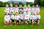 The St Finians Waterville team that played in the Cumann na mbunscoil final in Beaufort on Thursday <br /> <br /> Clodagh Dwyer, Maddie Courtney, Cliona O'Shea, Sarah Murphy, Sophie O'Sullivan, Aoife Cronin, Michaela Huggard, Back row: Lauren Curran, Leanne O'Sullivan, Aoife O'Dwyer, Joanie Curran, Leo O'Dwyer, Lucy Higgins, Emma Foran, Aoibhin Walsh
