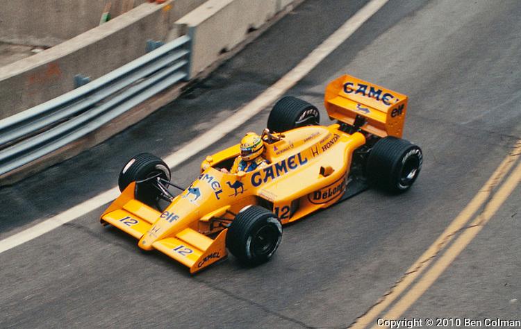 Ayrton Senna, Lotus 99T, Detroit 1988