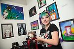 Coleg Gwent.Cross Keys Campus Art Students..19.06.12.©Steve Pope