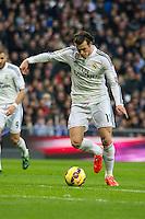 Real Madrid´s Gareth Bale during 2014-15 La Liga match between Real Madrid and Deportivo de la Coruna at Santiago Bernabeu stadium in Madrid, Spain. February 14, 2015. (ALTERPHOTOS/Luis Fernandez) /NORTEphoto.com