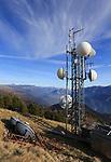Italy, on November 15, 2018. Panarotta Radio Antenna