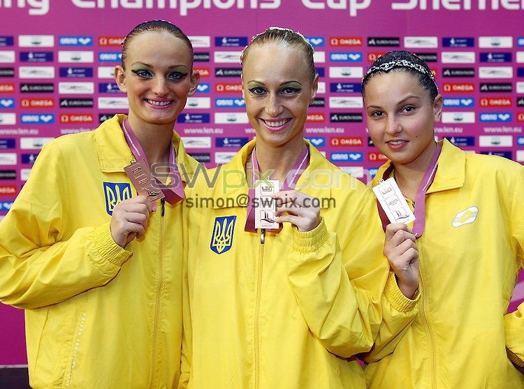 PICTURE BY VAUGHN RIDLEY/SWPIX.COM...Synchronised Swimming - European Synchro Champions Cup - Ponds Forge, Sheffield, England - 22/05/11...Ukraine win Bronze in the Duet Free Final.