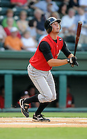 August 25, 2009: Infielder Drew Garcia (5) of the Kannapolis Intimidators, South Atlantic League affiliate of the Chicago White Sox, in a game at Fluor Field at the West End in Greenville, S.C. Photo by: Tom Priddy/Four Seam Images