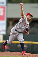 Lehigh Valley Ironpigs starting pitcher Vance Worley #17 delivers a pitch during the first game of a double header against the Rochester Red Wings at Frontier Field on April 14, 2011 in Rochester, New York.  Rochester defeated Lehigh Valley with a walk off home run 3-1 in the bottom of the seventh.  Photo By Mike Janes/Four Seam Images