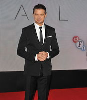 Jeremy Renner at the &quot;Arrival&quot; 60th BFI London Film Festival Royal Bank of Canada gala film screening, Odeon Leicester Square cinema, Leicester Square, London, England, UK, on Monday 10 October 2016.<br /> CAP/CAN<br /> &copy;CAN/Capital Pictures /MediaPunch ***NORTH AND SOUTH AMERICAS ONLY****