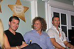 "The Young and The Restless Jeff Branson ""Ronan Malloy"" and Eric Marstolf  with Frank Eudy (Big Brother 14) at SoapFest's Celebrity Weekend -  A Night of Stars - a VIP event with dinner, autographs, photos, silent and live auction on November 10, 2012 at Bistro Soleil at Old Historic Marco Inn (Photo by Sue Coflin/Max Photos)"