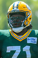 Green Bay Packers defensive tackle Izaah Lunsford (71) during a training camp practice on August 15, 2017 at Ray Nitschke Field in Green Bay, Wisconsin.   (Brad Krause/Krause Sports Photography)